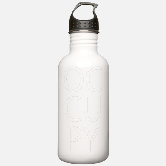 occupwhttext2 Water Bottle