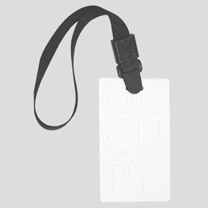 occupwhttext2 Large Luggage Tag