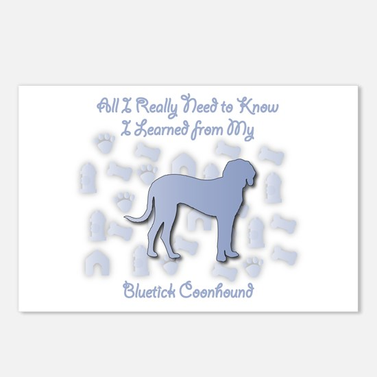 Learned Bluetick Postcards (Package of 8)