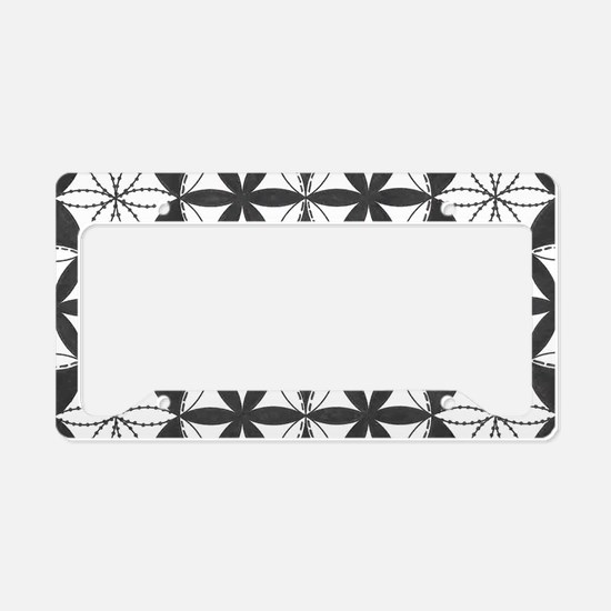 Fl_of_Lf_BW_toiletry_bag License Plate Holder