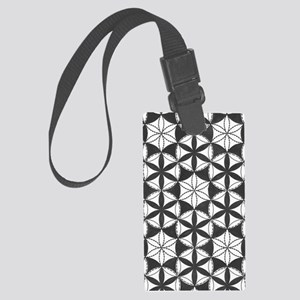 Fl_of_Lf_BW_nook_sleeve Large Luggage Tag
