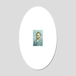 Self-portrait 1889 20x12 Oval Wall Decal