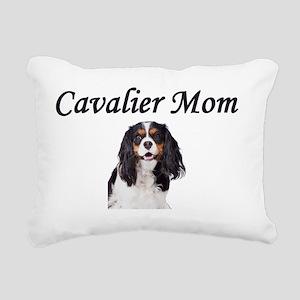 cavaliermomblack Rectangular Canvas Pillow