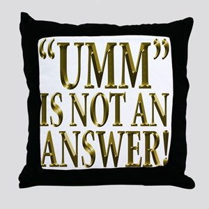 Umm Throw Pillow