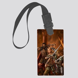 leo reuters fin without text Large Luggage Tag