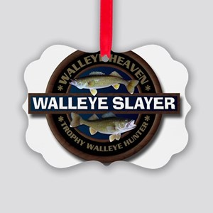 Walleye Slayer Picture Ornament