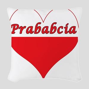 Prababcia Polish Heart Woven Throw Pillow
