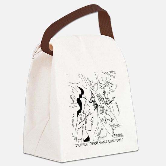 6291_lab_cartoon Canvas Lunch Bag