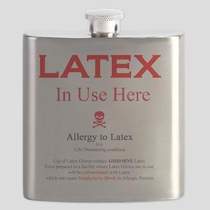 Latex sticker food Flask