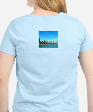 Chicago from the Museums Women's Light T-Shirt