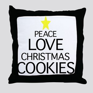 Peace, Love, Christmas Cookies Throw Pillow
