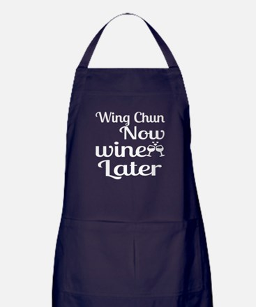 Wing Chun Now Wine Later Apron (dark)