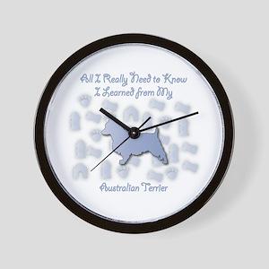 Learned Terrier Wall Clock