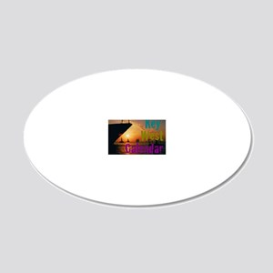 11.5x9at255SunsetShipKWC 20x12 Oval Wall Decal