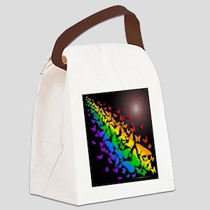 butrfly rbo sq bk Canvas Lunch Bag