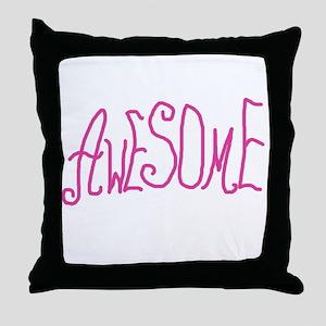 AWESOMEGRAMMIEPINK Throw Pillow