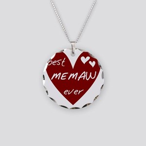 redbesMEMAW Necklace Circle Charm