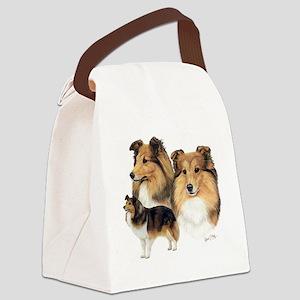 Sheltie Multi Canvas Lunch Bag