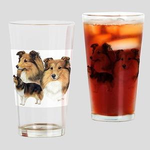 Sheltie Multi Drinking Glass