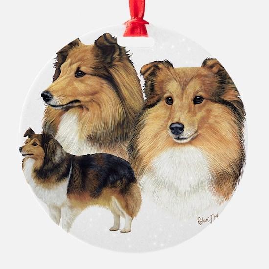 Sheltie Multi Ornament