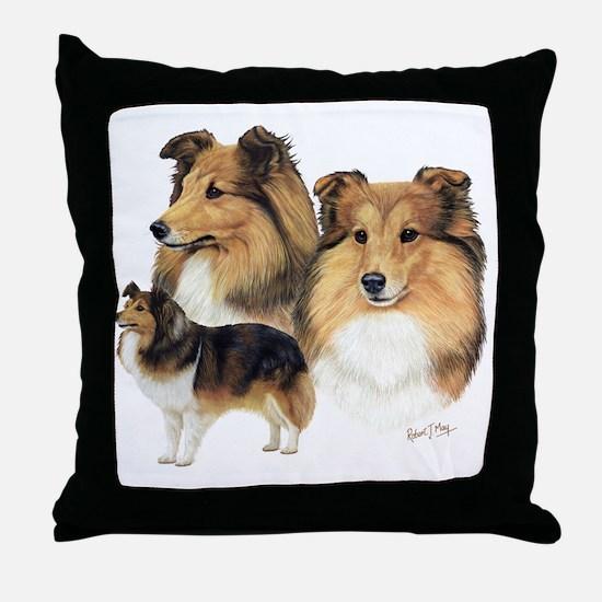 Sheltie Multi Throw Pillow