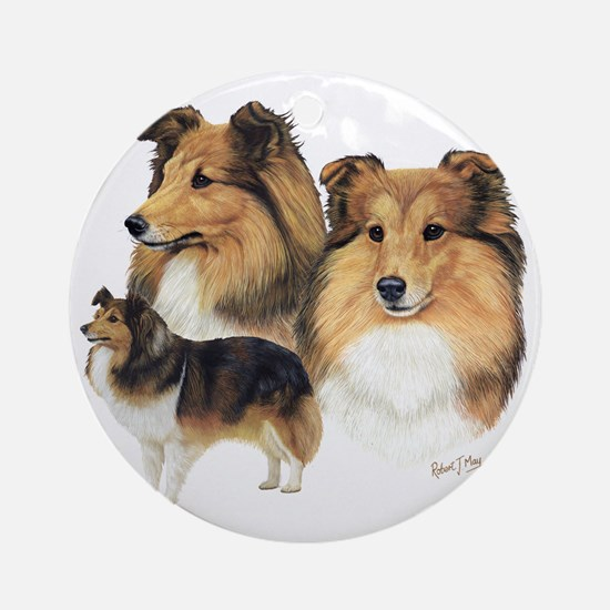 Sheltie Multi Round Ornament