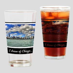 ipad2-chicago-dream-black Drinking Glass