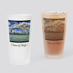 ipad2-chicago-dream-wht Drinking Glass