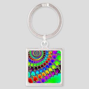 Fractal Hook Rug Square Keychain