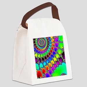 Fractal Hook Rug Canvas Lunch Bag
