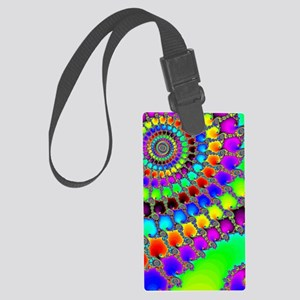 Fractal Hook Rug Large Luggage Tag