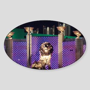 MGM Lion Sticker (Oval)