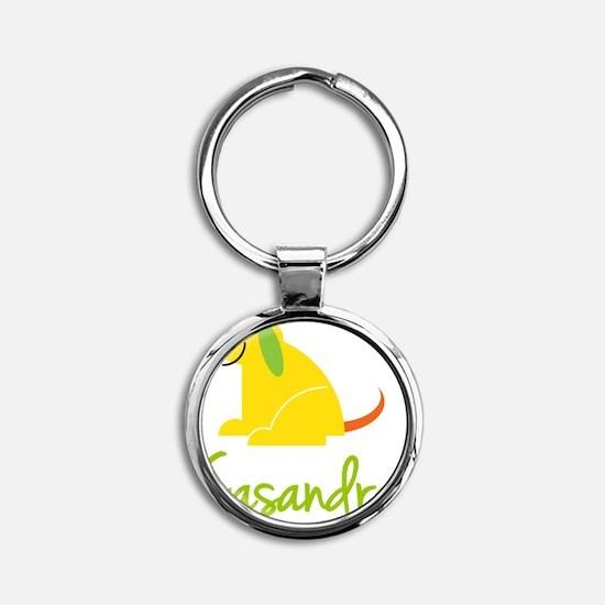 Casandra-loves-puppies Round Keychain