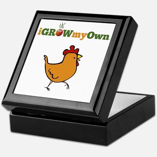 igrowmyown_chicken01_10x10 Keepsake Box