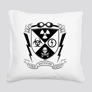 Mad Science Institute BW Square Canvas Pillow