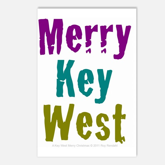 4.5x5.75at250MerryKeyWest Postcards (Package of 8)