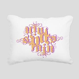 spain dark Rectangular Canvas Pillow