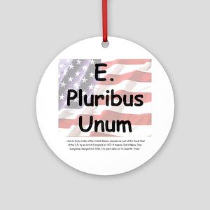E Pluribus Unum Round Ornament