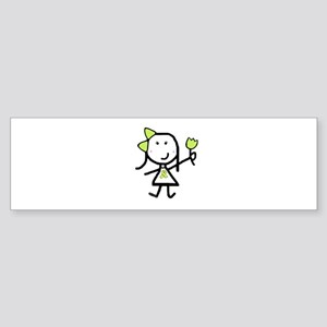Girl & Lime Ribbon Bumper Sticker