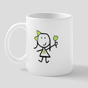 Girl & Lime Ribbon Mug