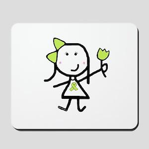 Girl & Lime Ribbon Mousepad