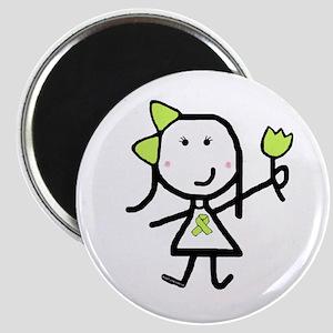 Girl & Lime Ribbon Magnet