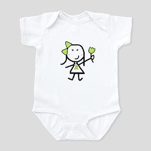 Girl & Lime Ribbon Infant Bodysuit