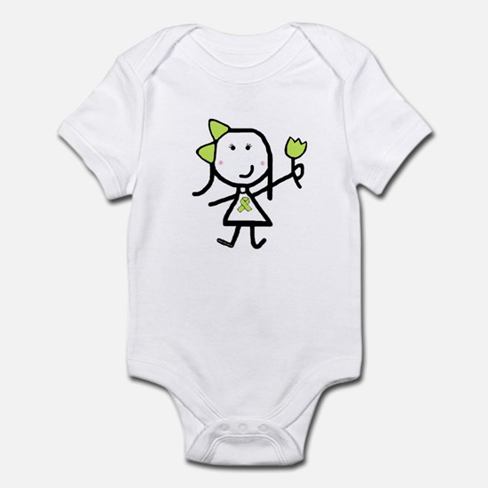 Girl & Lime Ribbon Infant Bodysuit