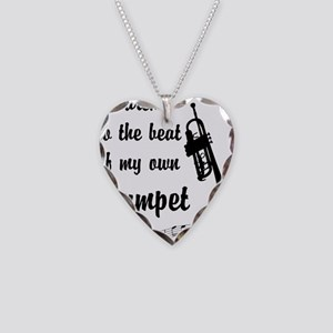 MarchTrumpet Necklace Heart Charm