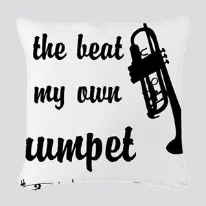 MarchTrumpet Woven Throw Pillow