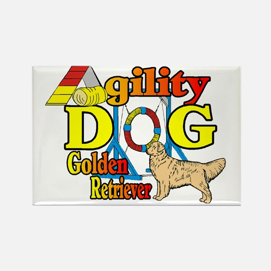 golden agility Rectangle Magnet