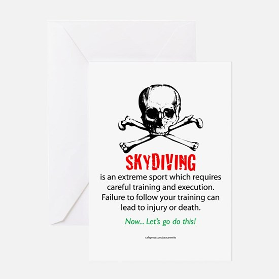 Skydiving Training Greeting Card