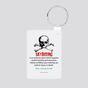 Skydiving Training Aluminum Photo Keychain