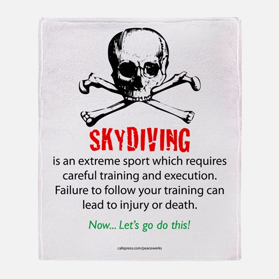 Skydiving Training Throw Blanket